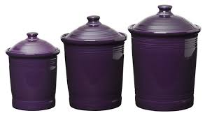 kitchen canisters canada plum purple kitchen canister set of 3 sizes