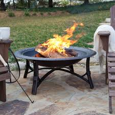 fire sense 30 in portsmouth weathered bronze fire pit with free