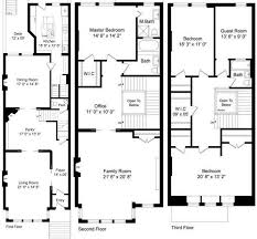 row house floor plans brownstone 3 d floor plan cheap row house plans by concept stair