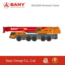sany 220 ton heavy truck mounted crane of full extend boom 73 m