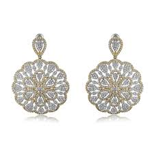 studded earrings buy two toned floral studded earrings online in india shaze