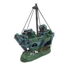 fish tank aquarium ornament wreck sailing boat 2017 wholesale