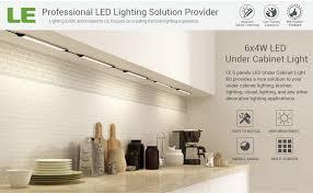 Best Under Cabinet Kitchen Lighting by Le Under Cabinet Led Lighting 6 Panel Kit 24w Total 12 V Dc