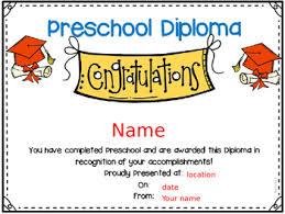 preschool certificates preschool graduation certificates freebies by in ecse tpt