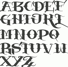 old english letter tattoo image collections examples writing letter