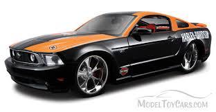 mustang gt model ford mustang gt top harley davidson black orange maisto