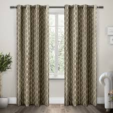 Silver And Blue Curtains Amazon Com Exclusive Home Curtains Trellis Grommet Top Window