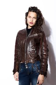 light brown vest womens women s dark washed brown leather jacket with snakeskin back