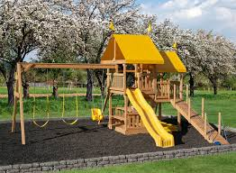 Backyard Swing Sets Canada Play Mor 433 Easy Fun Wooden Swing Sets Wooden Swingsets