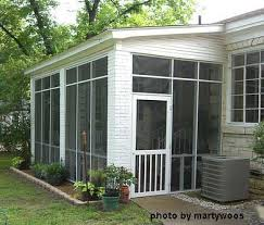 Enclosed Porch Plans Screened Porches Screened Porch Note The Brick Columns