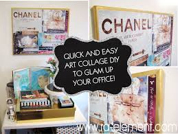quick and easy art project to glam up your office ra element