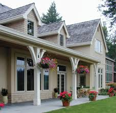 covered front porch plans adding a few flower pots and hanging flowers baskets gives a whole