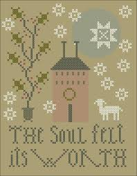 free cross stitch ornament pattern at plum slers