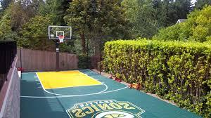 backyard sport court best home gym decorating design ideas pictures