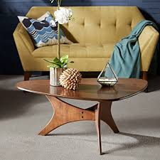 ink ivy blaze brown triangle wood side table amazon com triangle wood coffee table brown blaze kitchen dining