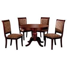 cherry dining room set sun pine 5pc pedestal dining table set wood antique cherry
