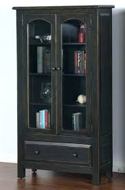 Solid Wood Bookcases With Glass Doors Solid Wood Bookcase Aifaresidency