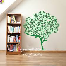 large wall decoration nature promotion shop for promotional large cartoon swirl tree wall sticker baby nursery living room large tree branch leaf plant nature wall decal kids room vinyl decor
