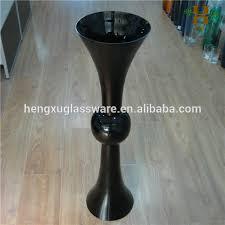 Wholesale Wedding Vases Tall Tall Black Wedding Centerpiece Glass Vase Buy Tall Black Wedding