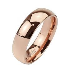 gold band tir 0008 solid titanium gold ip 6mm wide classic