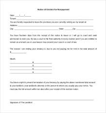 6 eviction letter templates u2013 free sample example format