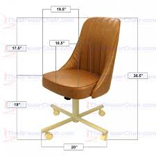 Vinyl Swivel Chair by Caster Chair Company C52 Cindy Swivel Tilt Caster Arm Chair In
