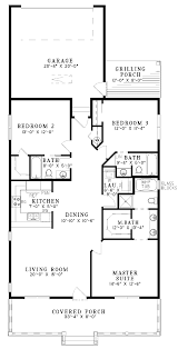 cottage floor plans one story 3 bedroom house plans one story ahscgs com