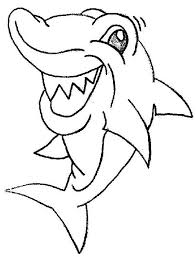shark funny coloring kids play color