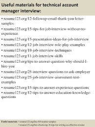 Technical Manager Resume Samples by Top 8 Technical Account Manager Resume Samples