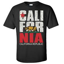 Flag Clothing California Republic State Bear Flag T Shirts Logo Design