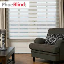 Rica Blinds Wholesale Solid Single Color Zebra Roller Blinds With Luxury