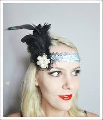 flapper headbands 1920s black feather silver flapper headband races on luulla