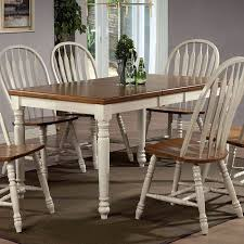 oak dining room set antique white and oak rectangular dining room set casual dining