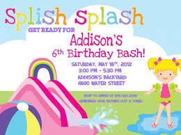 Backyard Birthday Party Invitations Water Party Invitations Oxsvitation Com