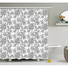 84 Inch Fabric Shower Curtain Curtains Fabric Shower Curtains 84 Inches Luxury Floral