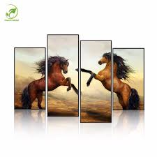 two horses home decor hd printed modern art painting on canvas