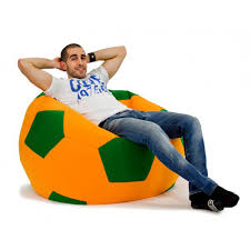 free shipping d120cm football beanbag sofa cover boys bedroom bean