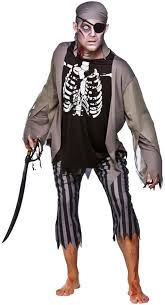 zombie skeleton pirate costume all mens halloween costumes