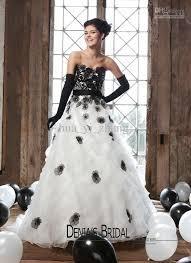 wedding dress not white new arrival black and white wedding dresses sweetheart flower sash
