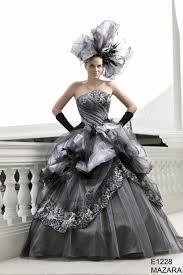 robe de mariã e grise et blanche robe de mariée blanche et noir emy robe de mariée noir et