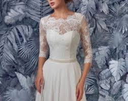 Wedding Dress Elegant Wedding Dresses Etsy Uk