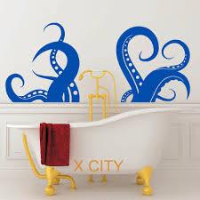 online get cheap kids bathroom wall art aliexpress com alibaba octopus legs animal creative bathroom wall art sticker vinyl transfer decal window door kids room stencil mural decor s m l