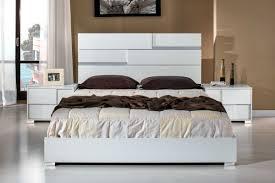 Modern White Bed Frame Modrest Ancona Italian Modern White Bedroom Set