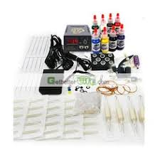 ws k058 cheap professional tattoo kits plus 5 paper 5 gloves are