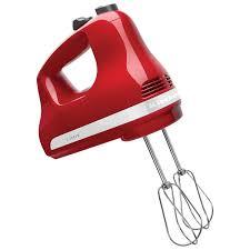 kitchenaid ultra power 5 speed hand mixer khm512er empire red