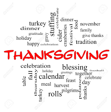 thanksgiving word cloud concept in caps with great terms