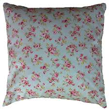 duck egg blue vintage floral cushion cover shabby chic style