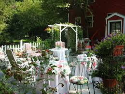 beautiful garden party ideas white outdoor dining table concept