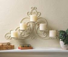 Shabby Chic Wall Sconce by Wall Chandelier Candle Holder Sconce Shabby Chic Elegant