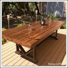 patio table plug 2 1 4 diy large outdoor dining table pinspired to diy create craft